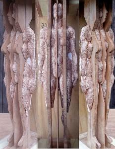 Cortege sand cast figure three views